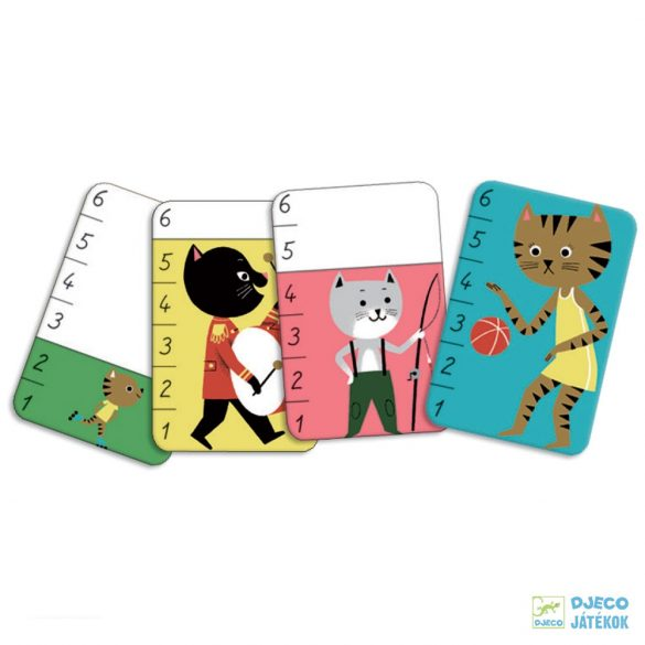 Bata-Miaou - Djeco logikai kártyajáték - 5139