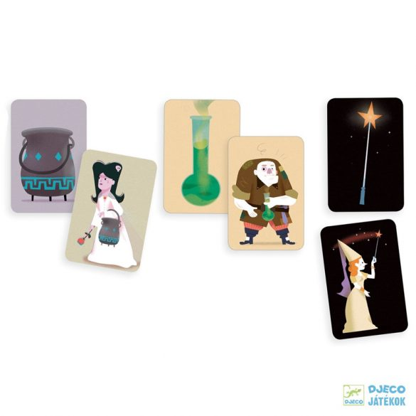 Magic School - Varázsló iskola Djeco kooperációs és memóriafejlesztő kártyajáték - 5144