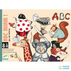 ABC Miam - Betűfaló Djeco gyűjtögetős kártyajáték - 5174