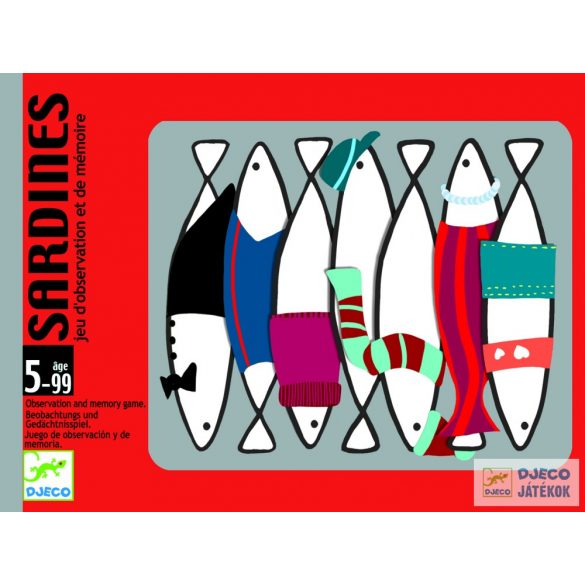 Djeco Sardines memóriafejlesztő kártyajáték