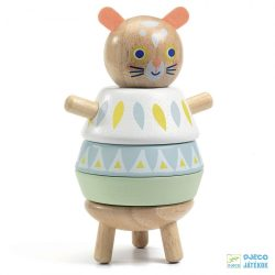 BabySouri, Egérkés Djeco toronyépítő fa babajáték - 6131