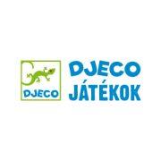 Húzós fajáték, Scouic (Djeco, 6224, kerékpáros róka mozgásfejlesztő bébijáték, 1-3 év)