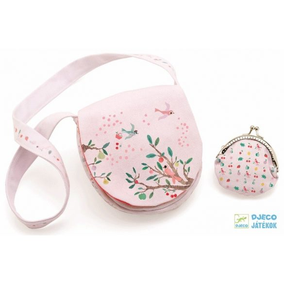 Divatos Summer garden Djeco táska pénztárcával