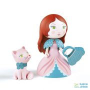 Arty Toys, Rosa hercegnő cicával (Djeco, 6777, szerepjáték, 3-12 év)