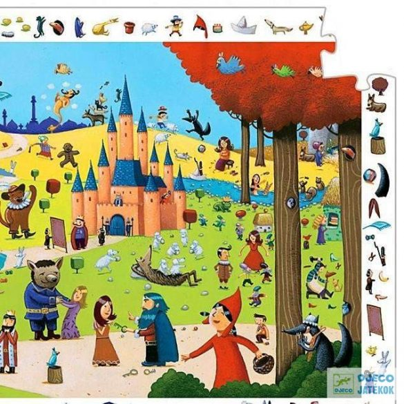 Tales Híres mesék 54 db-os Djeco képkereső puzzle