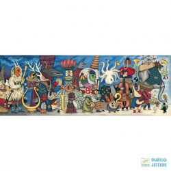 Festmény Puzzle, Fantasztikus zenekar (Djeco, 7626, 500 db-os kirakó, 8-99 év)