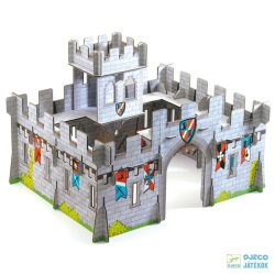 3D-s puzzle, Középkori vár (Djeco, 7703, 31 db-os kemény karton kirakó, 3-8 év)