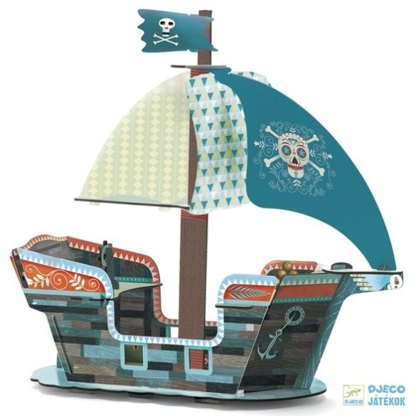 Pop to play Pirate Boat kalózhajós Djeco 3D puzzle