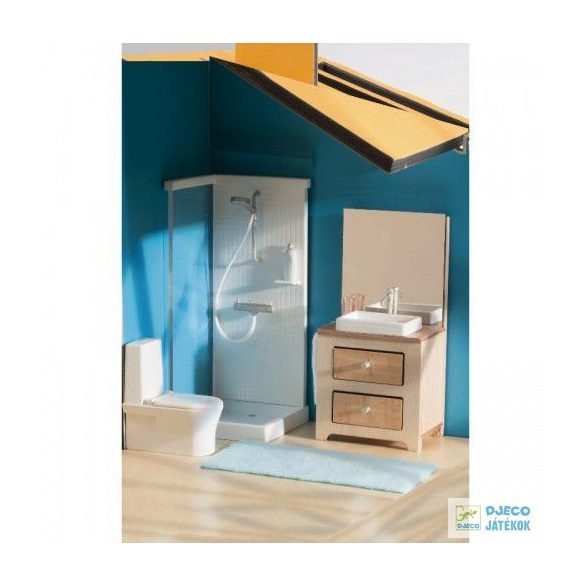 Fürdőszoba Djeco babaházhoz
