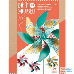 Csináld magad! Virágos szélforgó készítő Djeco kreatív készlet – Sweet - 7920