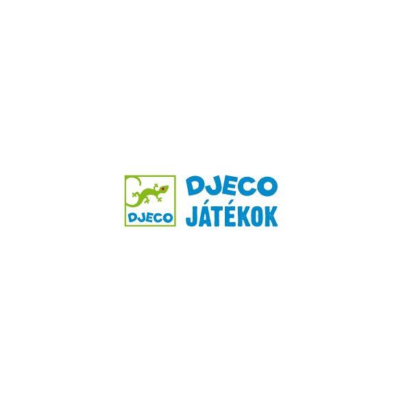 Dominó, Színes Állatok  (Djeco, 8111, párosító logikai játék, 2-5 év)