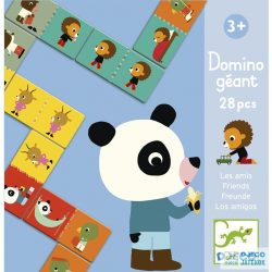 Dominó, Barátok (Djeco, 8118, 28 db-os párosító logikai játék, 2-6 év)