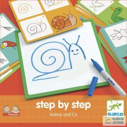 Rajzolás lépésről lépésre állatok Djeco Step by Step Animals and Co