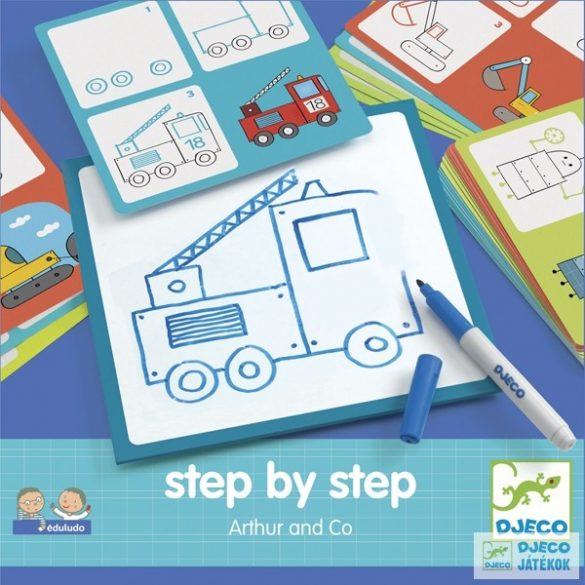 Rajzolás lépésről lépésre fiúknak Djeco Step by Step Arthur and Co