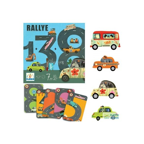 Rallye autós Djeco matekos társasjáték
