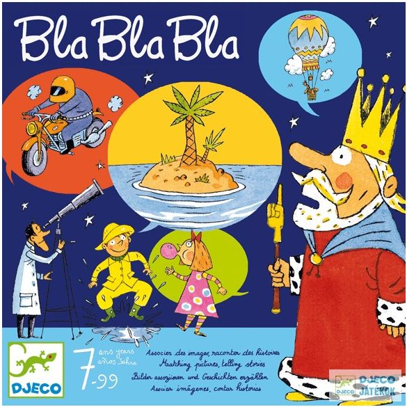 Bla Bla Bla Djeco 3in1 beszéltetős Dixit társasjáték gyerekeknek