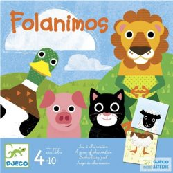 Folanimos állathangos Djeco gyorsasági megfigyelős társasjáték