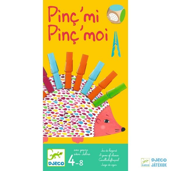 Pinc mi Pinc moi sünis csipeszes Djeco kétszemélyes készségfejlesztő társasjáték