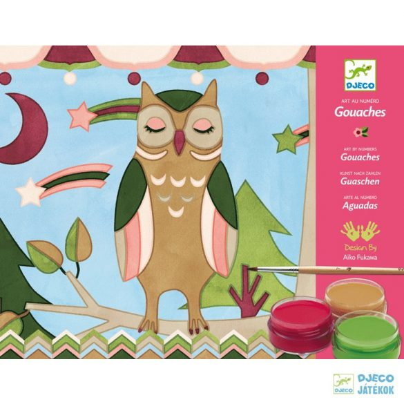 Kifestő szett, Állatok (Djeco, 8657, kreatív készlet, 6-9 év)