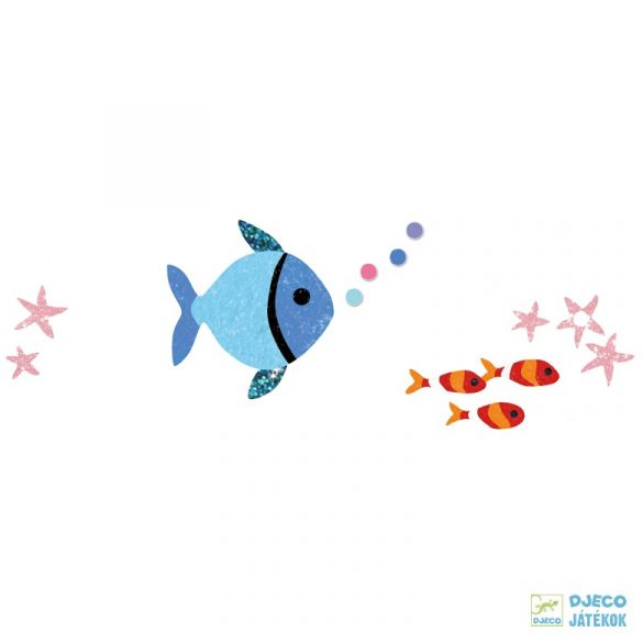 Fish rainbows szivárványos halak Djeco csillámkép készítő