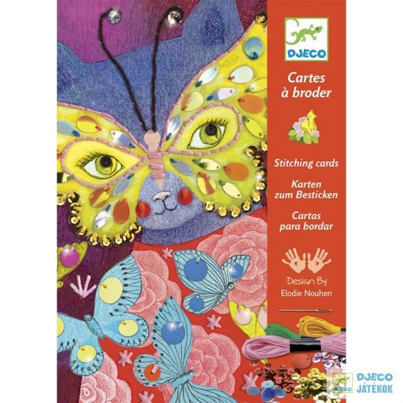 Varrókészlet, Elegáns karnevál (Djeco, 8669, kreatív játék, 7-13 év)
