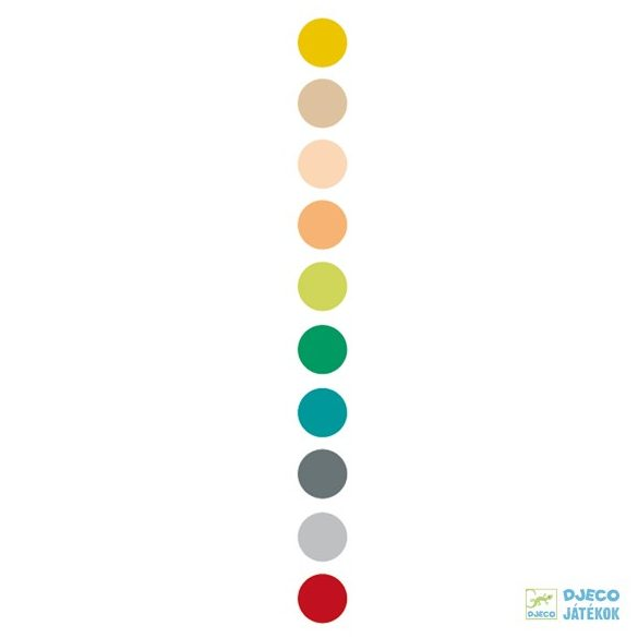 Tertiary colors föld színű 10 db-os Djeco filctoll