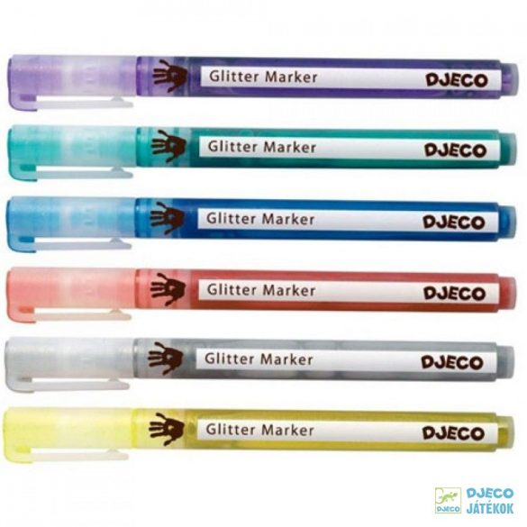 Glitter markers 6 db-os Djeco csillámtoll