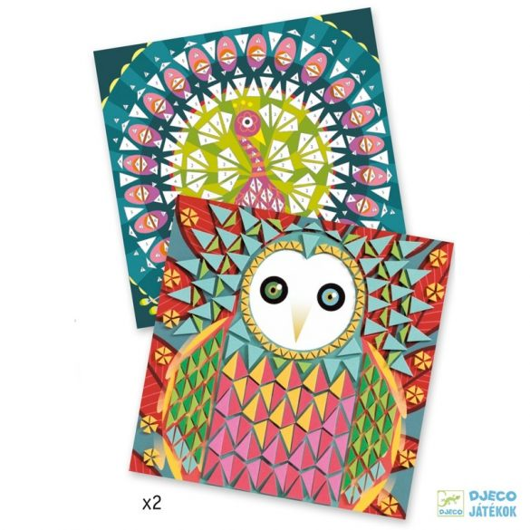Coco madaras Djeco mozaikkép készítő