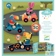 Cars, Autókázás Djeco újraragasztható matricás könyv - 9073