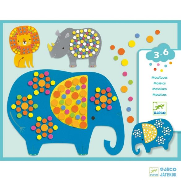 Mozaikkép készítő Djeco Dzsungel állatok kreatív készlet – Soft Jungle - 9097