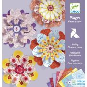 Origami, Papírvirág hajtogatás (Djeco, 9403, kreatív játék, 7-13 év)