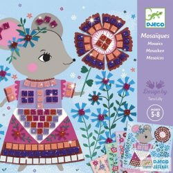 Lovely pets, Édes háziállatok mozaikkép készítő Djeco kreatív készlet - 9425