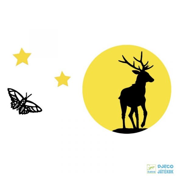 Bársony színező, Az erdőben (Djeco, 9623, kreatív képkészítő, 6-9 év)