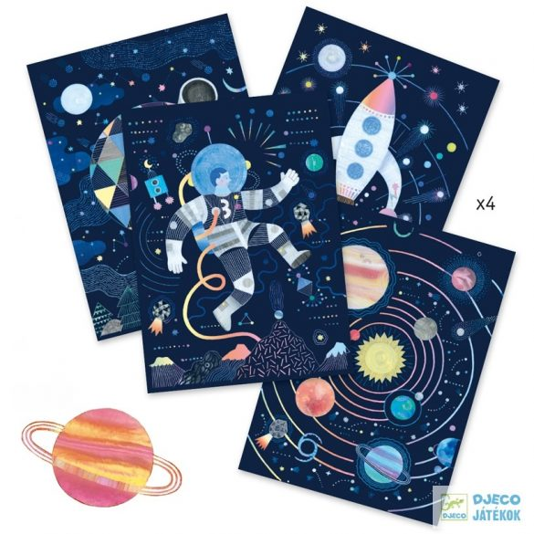 Cosmic mission Űrutazás Djeco Karckép készítő