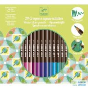 Akvarell színes ceruza (Djeco, 9754, 24 db-os kreatív készlet, 5-12 év)
