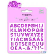 Csillogó betűk 25 db-os Djeco mini matrica