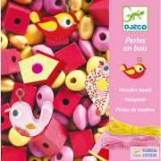 Wooden beads Bird madaras Djeco gyöngyfűző ékszerkészítő