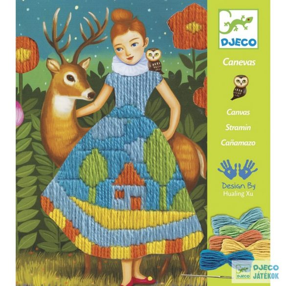 Djeco Canvas Dress ruha hímző készlet