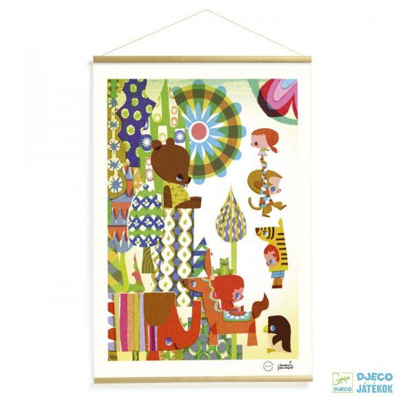Falikép, Colored story (Djeco, 00303, szobadekoráció)