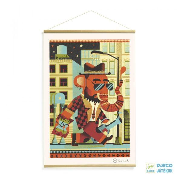 Falikép, Brooklyn (Djeco, 00305, szobadekoráció)