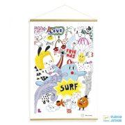 Falikép, Surf's party (Djeco, 00306, szobadekoráció)