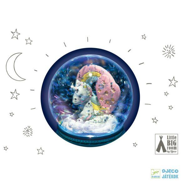 Djeco unicorn - Unikornis éjszakai fény és hógömb