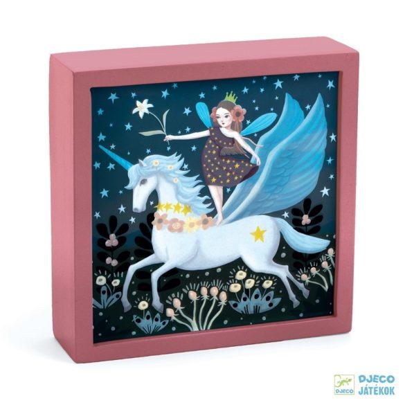 Enchanted unicorn unikornisos Djeco falikép és éjszakai fény