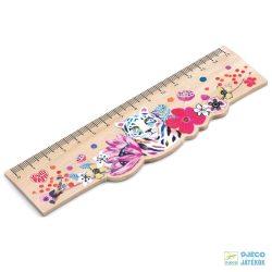 Martyna ruler 15 cm-es tigrises Djeco fa vonalzó