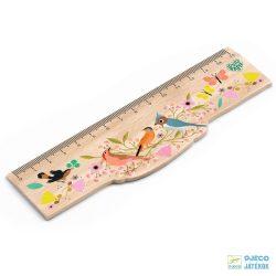Tinou ruler 15 cm-es madaras Djeco fa vonalzó