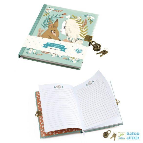 Titkos napló, Lucille (Djeco, 3610, kulcsos emlékkönyv, 8-18 év)
