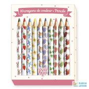 Mini színes ceruza készlet (Djeco, 3725, 10 db-os kreatív készlet, 5-12 év)