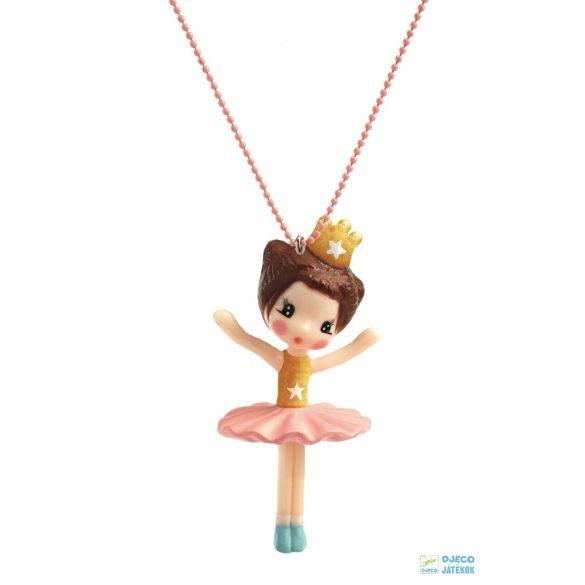 Ballerina Lovely Charmes 55 cm-es Djeco nyaklánc balerinás medállal