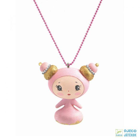 Sweet Lovely Charmes 55 cm-es Djeco nyaklánc cuki kislány medállal