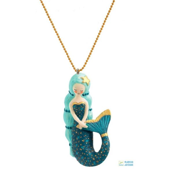Mermaid Lovely Charmes 55 cm-es Djeco nyaklánc sellős medállal